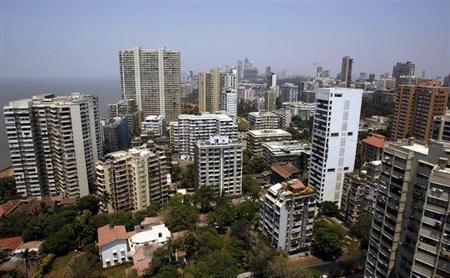 Mumbai's skyline is seen April 9, 2008. REUTERS/Punit Paranjpe/Files