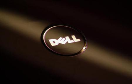 A company logo of Dell is seen on the cover of its laptop at a Dell outlet in Hong Kong October October 21, 2009.REUTERS/Bobby Yip