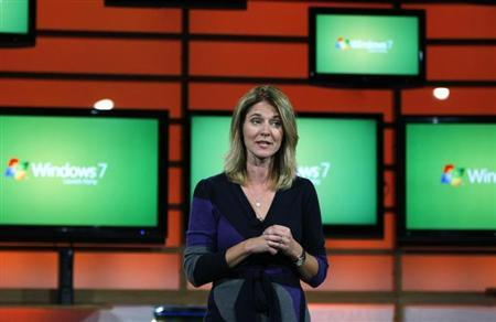 Tami Reller, chief financial officer of the Windows unit, is seen in New York in this October 22, 2009 file photo. REUTERS/Shannon Stapleton/Files