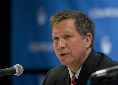 Ohio Governor John Kasich speaks during the CERAWEEK global energy conference in Houston March 7, 2012. REUTERS/Donna W. Carson