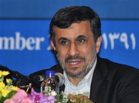 Iranian President Mahmoud Ahmadinejad speaks during a news conference in Nusa Dua, Bali November 2012. REUTERS/Stringer/Files