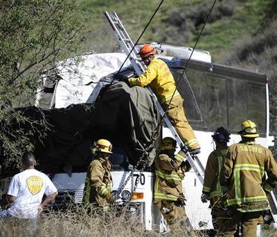 Seven killed, dozens hurt in California tour bus crash