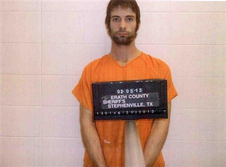 Eddie Ray Routh is pictured in this booking photo provided by the Erath County Sheriff's Office. Routh is a suspect in the shooting and killing of former Navy SEAL Sniper Chris Kyle. REUTERS/Erath County Sheriff's Office/Handout