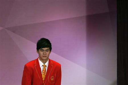 China's swimmer Sun Yang attends a news conference in Hong Kong August 24, 2012. REUTERS/Tyrone Siu/Files