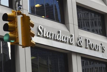 he Standard and Poor's building in New York, August 3, 2012. REUTERS/Charles Platiau (UNITED STATES - Tags: BUSINESS POLITICS)