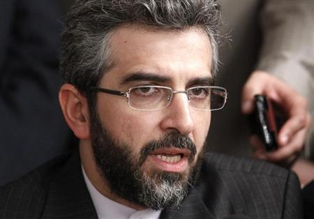 Iran's negotiator Ali Bagheri addresses the media in Moscow, June 18, 2012. REUTERS/Sergei Karpukhin