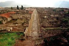 Un'immagine degli scavi archeologici di Pompei.