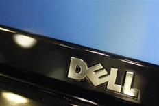 A Dell computer logo is seen on a laptop at Best Buy in Phoenix, Arizona, February 18, 2010