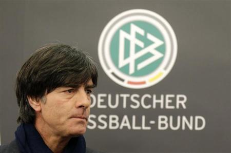 Germany's national soccer team coach Joachim Loew attends a news conference in Paris February 5, 2013 on the eve of their friendly match against France in Saint-Denis, Paris suburb. REUTERS/Jacky Naegelen