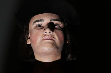 A facial reconstruction of King Richard III is displayed at a press conference to unveil the bust in central London, February 5, 2013. REUTERS/Andrew Winning