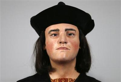 Face of Richard III, England's ''king in the car park'',...