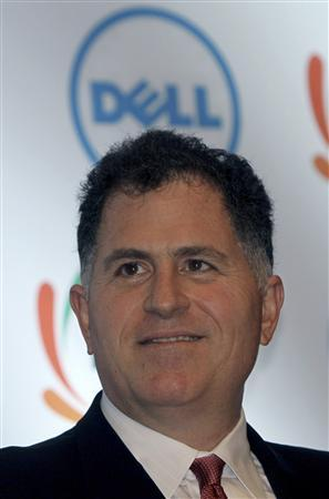 Dell Inc. founder and chief executive Michael Dell smiles during a business conference organized by the Federation of Indian Chambers of Commerce and Industry (FICCI) in New Delhi in this March 22, 2011 file photograph. REUTERS/B Mathur