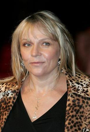 British author Helen Fielding arrives at the UK premiere of 'Bridget Jones: The Edge of Reason' at the Odeon Leicester Square in London November 9, 2004.
