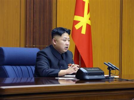 North Korean leader Kim Jong-Un presides over an enlarged meeting of the Central Military Commission of the Workers' Party in this undated recent picture released by North Korea's official KCNA news agency in Pyongyang February 3, 2013. REUTERS/KCNA