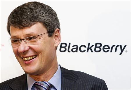 Blackberry CEO Thorsten Heins attends a launch event for the new Blackberry Z10 device at a Rogers store in Toronto February 5, 2013. REUTERS/Mark Blinch