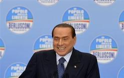 L'ex premier Silvio Berlusconi. REUTERS/Paolo Bona