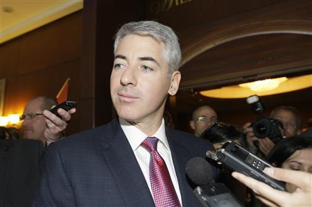 William Ackman, Chief Executive Officer of Pershing Square Capital Management LP talks to reporters before entering the AGM of Canadian Pacific Railway Ltd. in Calgary in this May 17, 2012 file photograph. For now, William Ackman is getting the better of Carl Icahn in a well-publicized grudge match between the billionaire investors over Herbalife Ltd. REUTERS/Jack Cusano/Files