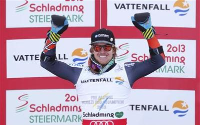Maiden super-G win gives Ligety world title