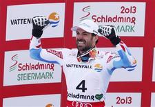 Gauthier De Tessières a décroché mardi la médaille d'argent du Super-G, aux championnats du monde de ski, à Schladming, derrière l'Américain Ted Ligety. /Photo prise le 6 février 2012/REUTERS/Ruben Sprich