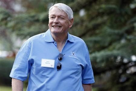 Chairman of Liberty Media John Malone attends the Allen & Co Media Conference in Sun Valley, Idaho in this July 12, 2012 file photo. Malone's Liberty Global Inc struck a deal to buy British cable group Virgin Media, a move that would put the U.S. billionaire up against old rival Rupert Murdoch. REUTERS/Jim Urquhart