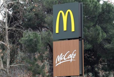 A McDonald's logo is pictured in Rome, January 9, 2013. REUTERS/Giampiero Sposito