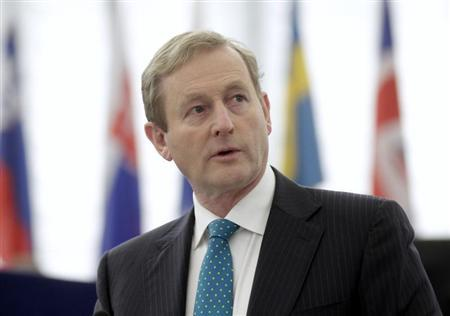 Ireland's Prime Minister Enda Kenny attends a session at the European Parliament in Strasbourg January 16, 2013. REUTERS/Jean-Marc Loos