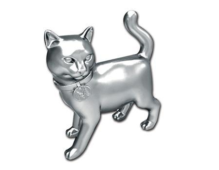 The new cat token for Monopoly is seen in this undated Hasbro Inc handout image made available on February 6, 2013. Monopoly fans have voted to make a cat the newest token on the popular board game, replacing the not-so-hot iron, Hasbro Inc said on Wednesday. REUTERS/Hasbro, Inc/Handout
