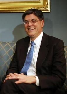 Jack Lew, U.S. President Barack Obama's nominee for Treasury Secretary, meets with U.S. Senator Orrin Hatch (R-UT) (not pictured) on Capitol Hill in Washington, January 23, 2013. REUTERS/Jason Reed
