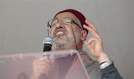 Rached Ghannouchi, leader del movimento islamico tunisino Ennahda. REUTERS/Zoubeir Souissi