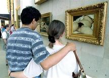 """Le visage de la femme posant pour """"L'Origine du monde"""", le célèbre tableau de Gustave Courbet, aurait été retrouvé, selon Paris Match, qui a rencontré le propriétaire de la présumée partie haute de la toile. La femme en question serait la maîtresse de l'artiste James Whistler, Joanna Hiffernan, une Irlandaise avec qui le peintre avait eu une aventure. /Photo d'archives/REUTERS"""
