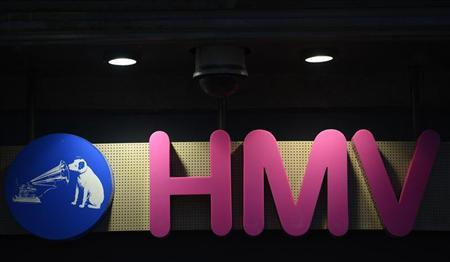 The sign is seen at the front of a HMV shop in central London, January 15, 2013. REUTERS/Paul Hackett
