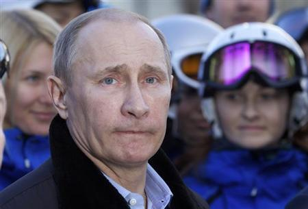 Russia's President Vladimir Putin visits the Rosa Khutor Alpine Center in Rosa Khutor outside the Black Sea resort of Sochi, February 6, 2013. REUTERS/Ivan Sekretarev/Pool