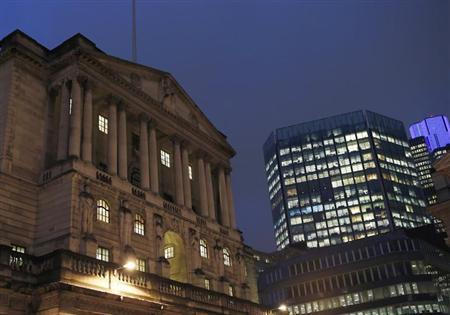 A general view shows the Bank of England in the city of London November 26, 2012.