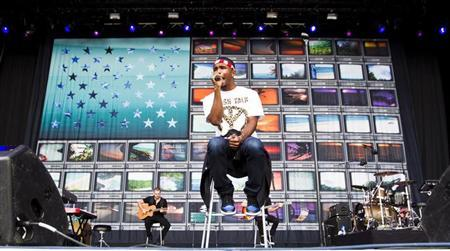 U.S. singer Frank Ocean performs at the Oya music festival in Oslo, August 9, 2012. REUTERS/Vegard Grott/NTB Scanpix/Files