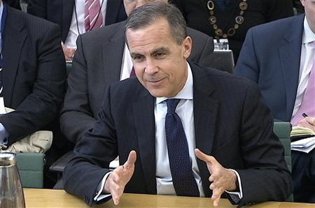 A video grab image shows Mark Carney, the next governor of the Bank of England, answering questions from a parliamentary committee in the Houses of Parliament in central London February 7, 2013. REUTERS/UK Parliament