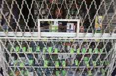 Imagen de archivo de una empleada en una tienda de telefonía móvil en Ciudad de México, oct 20 2009. La inflación anualizada de México se moderó en enero a un ritmo más lento de lo esperado por el mercado, aunque sigue rumbo a la meta oficial pese al incremento en los precios de la telefonía móvil y las gasolinas durante el mes, mostraron el jueves cifras oficiales. REUTERS/Daniel Aguilar