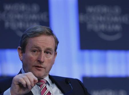 Ireland's Taoiseach Enda Kenny speaks during the annual meeting of the World Economic Forum (WEF) in Davos January 24, 2013. REUTERS/Pascal Lauener