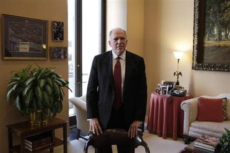 John Brennan, nominee for CIA Director, arrives at a meeting with Senate Intelligence Committee Chairman Dianne Feinstein (D-CA) on Capitol Hill in Washington January 31, 2013. REUTERS/Yuri Gripas