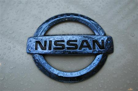 A logo of a Nissan car is pictured at an exhibition stand of the 'International CAR Symposium' in Bochum January 29, 2013. REUTERS/Ina Fassbender