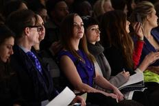 Actress Christina Ricci (C) attends the Richard Chai Autumn/Winter 2013 collection during New York Fashion Week in New York February 7, 2013. REUTERS/Joshua Lott