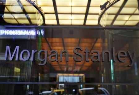The entrance to the Morgan Stanley headquarters is seen in New York, May 12, 2010. REUTERS/Shannon Stapleton/Files