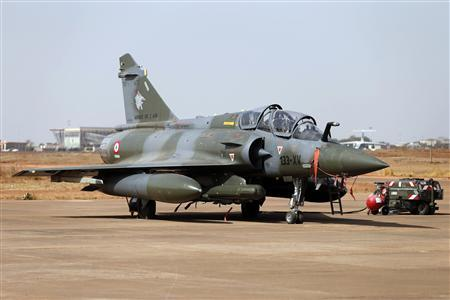 A Mirage 2000D is seen at Bamako airport February 7, 2013. REUTERS/Benoit Tessier