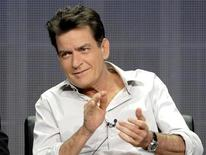 Actor Charlie Sheen takes part in a panel discussion at the FX Networks session of the 2012 Television Critics Association Summer Press Tour in Beverly Hills, California, in this file photo taken July 28, 2012. REUTERS/Gus Ruelas