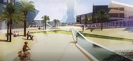 A digitally generated illustration which was released by the regional government of Aragon on December 13, 2007 shows the new Las Vegas-style project for the north-eastern Spanish region of Los Monegros. REUTERS/Aragon Government/Handout