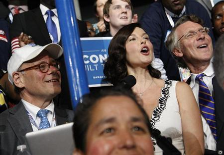 Actress Ashley Judd reads off the Tennessee vote totals during the roll call vote for the Democratic presidential nomination during the second session of the Democratic National Convention in Charlotte, North Carolina, September 5, 2012. REUTERS/Jonathan Ernst