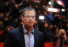 Actor Matt Damon arrives for the screening of the film 'Promised Land' at the 63rd Berlinale International Film Festival in Berlin February 8, 2013. REUTERS/Thomas Peter