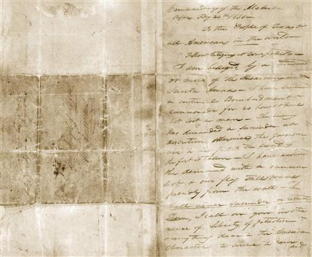 Commander's ''Victory or Death'' letter finally to return to the Alamo