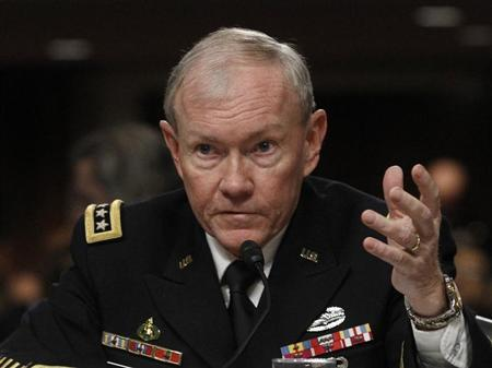 U.S. Army General Martin Dempsey, the Chairman of the Joint Chiefs of Staff, testifies on the Defense Department's response on the attack on U.S. facilities in Benghazi, Libya before the Senate Armed Services Committee hearing in Washington February 7, 2013. REUTERS/Gary Cameron