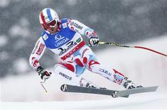 A l'aise comme un poisson dans le haut, le Français a laissé passer une chance de titre mondial dans le final de la descente des championnats du monde de ski alpin à Schladming, en Autriche. /Photo prise le 9 février 2013/REUTERS/Dominic Ebenbichler