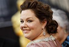 "Melissa McCarthy, best supporting actress nominee for her role in ""Bridesmaids"", arrives at the 84th Academy Awards in Hollywood, California, February 26, 2012. REUTERS/Lucy Nicholson"